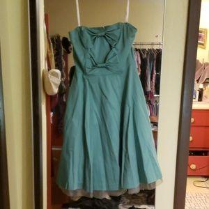 Strapless seafoam Betsey Johnson cocktail dress
